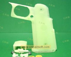 WE skidproof Pistol Hand Grip Cover for Hi-capa (Glow Green)